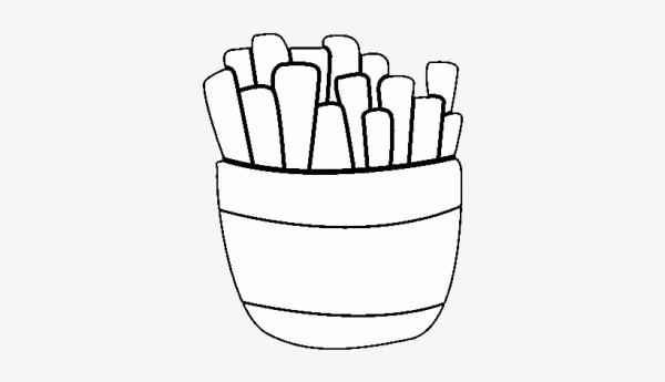 Desenho De Batatas Fritas Para Colorir