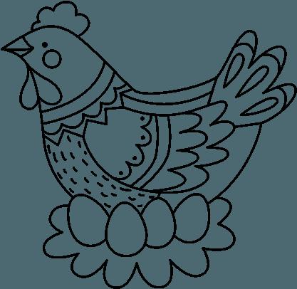 Gallina De Los Huevos De Oro Para Colorear