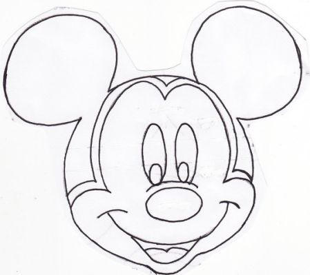 Patron Para Pintar La Cara De Mickey