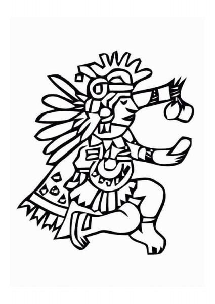 Dibujo Para Colorear Aztecas