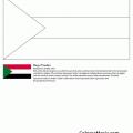 Bandera De Sudan Para Colorear