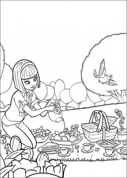 Dibujos Para Colorear Barbie Pulgarcita 3