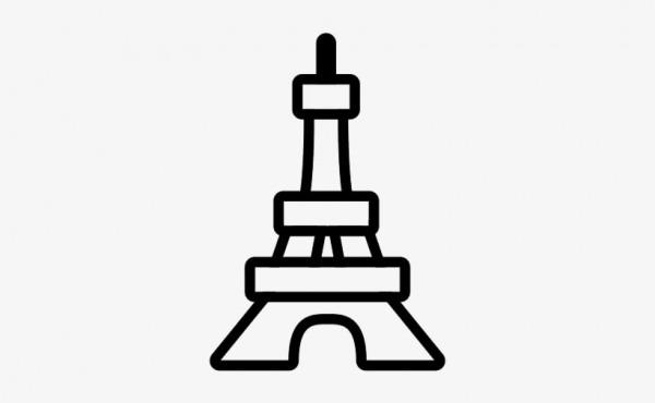 Torre Eiffel Dibujo Para Colorear