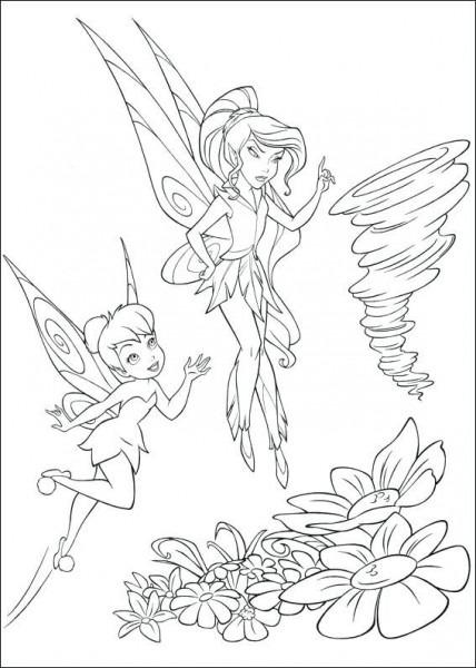 Dibujos Para Colorear Tinkerbell Para Plantil Para Dibujos De