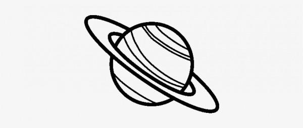 Dibujo De El Planeta Saturno Para Colorear Dibujos