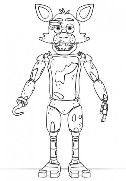 Fnaf Foxy Coloring Pages Printable