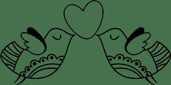 Download Dibujo De Pájaros Con Corazón Para Colorear