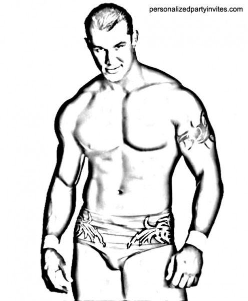 Wwe Randy Orton Coloring Pages