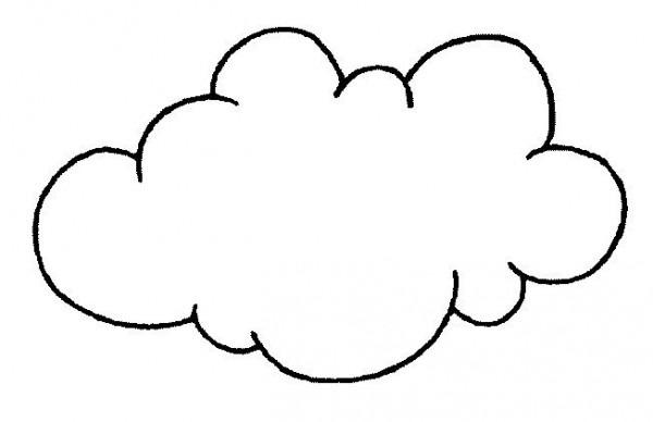 Nubes Para Colorear