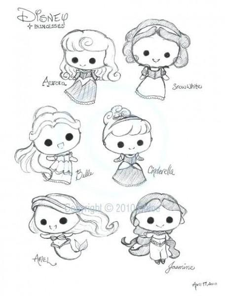 Dibujos Animados De Chibi Para Colorear Princesses By On – Spcaa