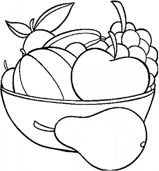 Verduras Y Frutas Dibujos Para Imprimir Y Disfrutar, Pintar Con