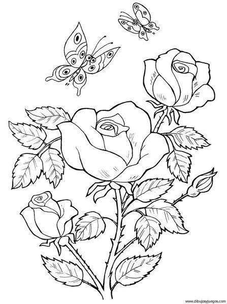 Campos De Flores Para Colorear Dificiles