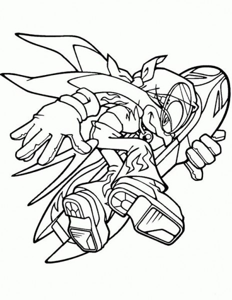 Sonic Coloring Pages 1