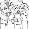 Dibujos Para Colorear Navidad Reyes Magos