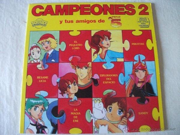 Lp Campeones 2 Y Tus Amigos De Telecinco, Inclu