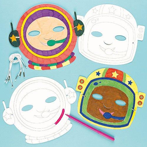 Baker Ross Caretas De Astronauta Para Colorear (pack De 6)  Amazon