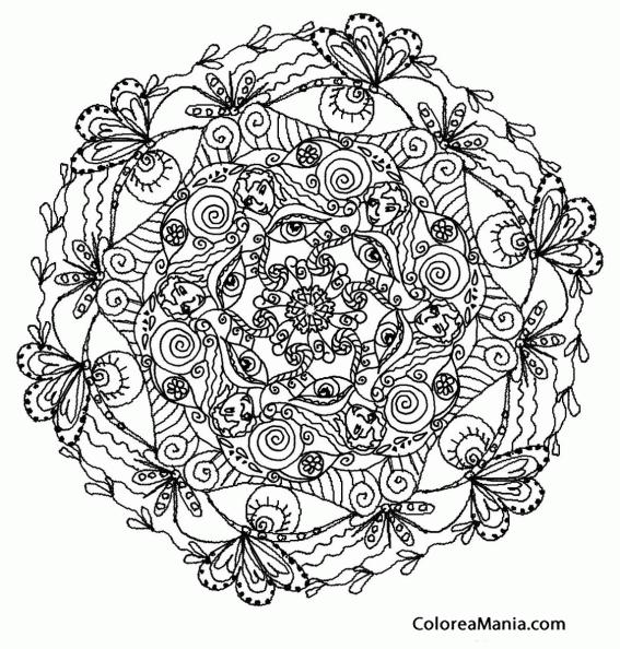 Colorear Mandala Difícil 2 (mandalas), Dibujo Para Colorear Gratis