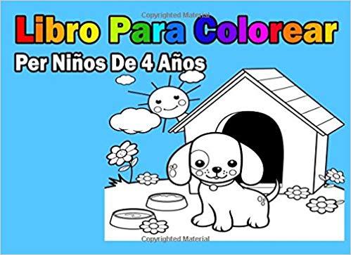 Libro Para Colorear Per Niños De 4 Años (spanish Edition)  Libro