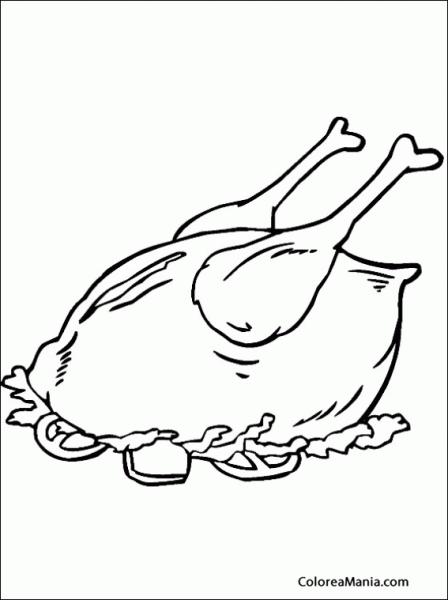 Dibujos Para Colorear De Carnes Y Pescados