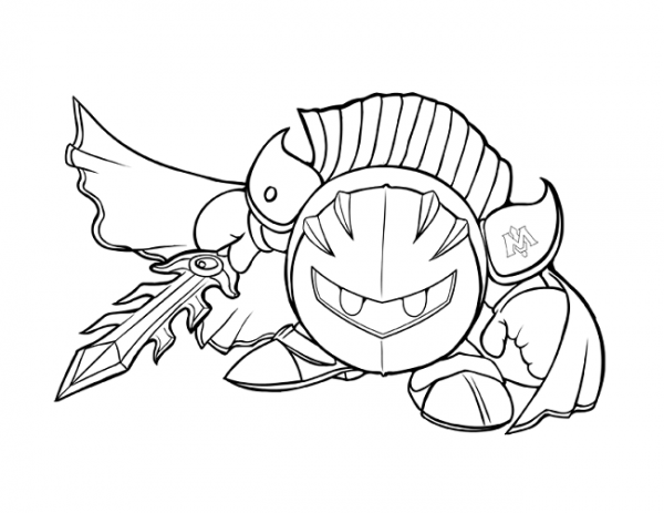 Metaknight Coloring Page
