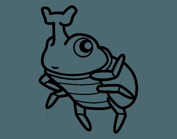 Dibujo De Escarabajo Rinoceronte Para Colorear