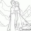 Anna Y Elsa Colorear
