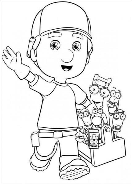 Handy Manny Tegninger Til Farvelægning  Printbare Farvelægning For