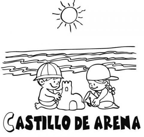 Castillo De Arena  Dibujos Para Colorear