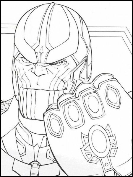 Imprimir Dibujos Para Colorear Vengadores  Endgame 38