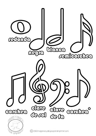 Colorear Las Notas Musicales