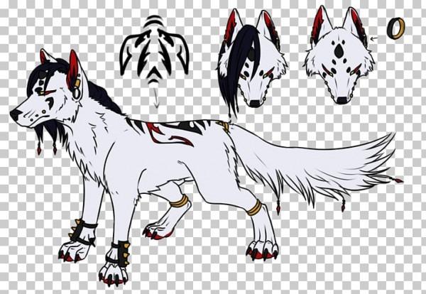 Dibujos Animados De Ilustración De Raza De Perro Husky Siberiano