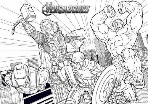 Imágenes De Avengers Para Colorear  Dibujos De Los Vengadores Para