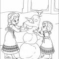 Elsa Y Anna Para Colorear
