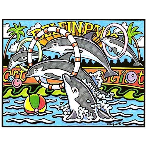 Lamina Para Colorear Con Caja De Rotuladores  Delfinario  Amazon