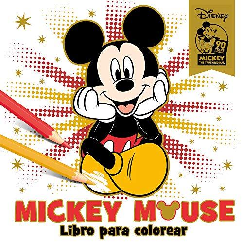 Mickey Mouse  Libro Para Colorear  Especial 90 Aniversario (disney