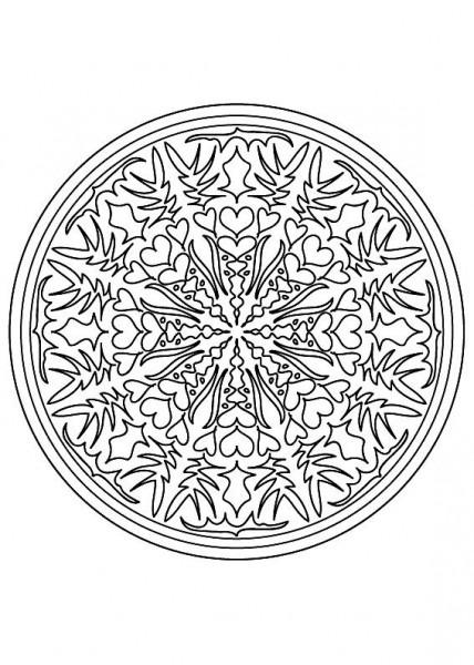 Colorear Mandala Dificil 9desde La Galería Mandalas