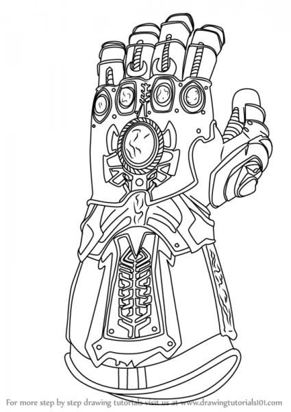 Infinity Gauntlet Drawing