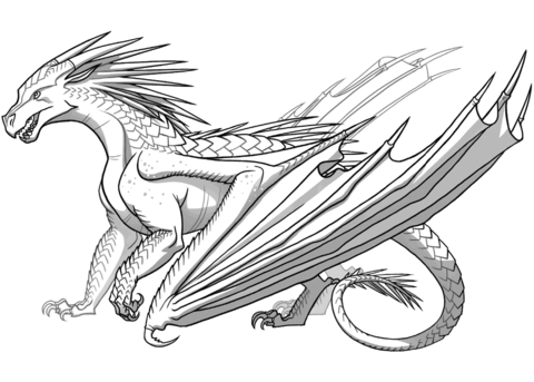 Icewing Dragon From Wings Of Fire Dibujo Para Colorear