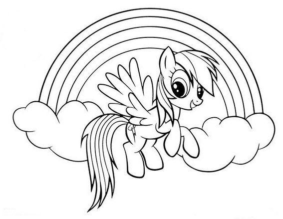 Pegasus Pony Rainbow Dash Coloring Pages