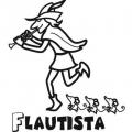 El Flautista De Hamelin Dibujos Para Colorear