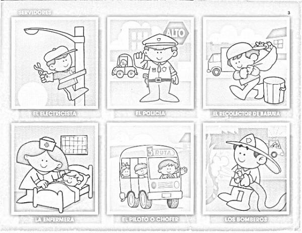 90 Figuritas De Oficios Para Colorear (infantil)