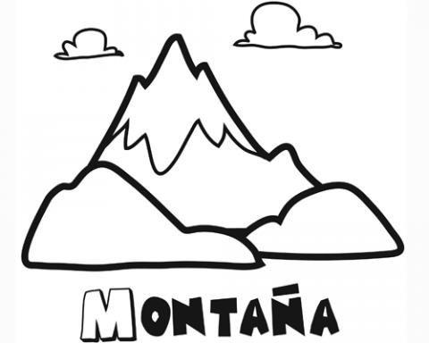 Dibujo De Una Montaña Para Pintar  Dibujos De La Naturaleza