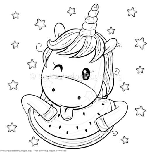 23 Cute Cartoon Unicorn Coloring Pages – Getcoloringpages Org