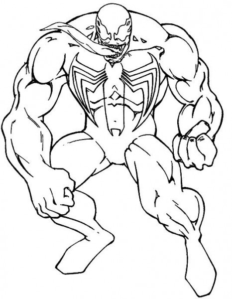 Spiderman Venom Consisting Of Great Coloring Pages