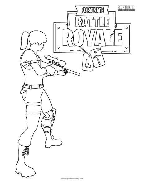 Fortnite Battle Royale Coloring Page