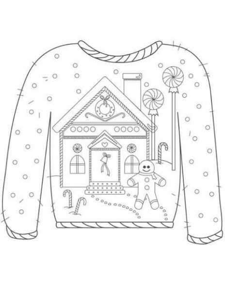 Sweter Para Colorear