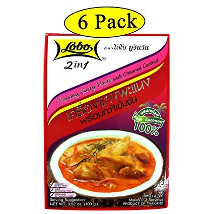 Lobo 2 En 1 Panang Curry Pasta Con Manteca De Coco 3 52 Oz 100 G X