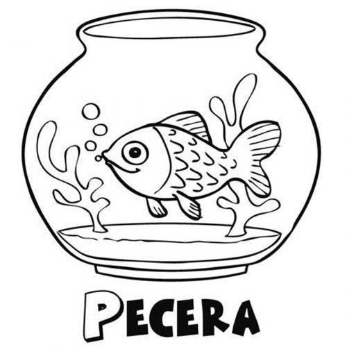 Dibujos De Peces En Pecera
