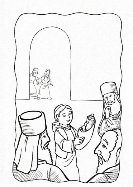 Dibujos Cat U00f3licos   Ni U00f1o Jesus Hallado En El Templo Para