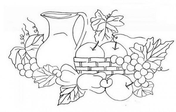 Canasta De Frutas En Pintura